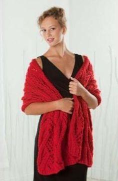 Candy Apple Knit Shawl Pattern