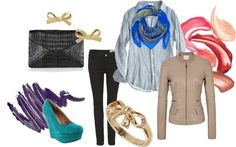 """""""Blue Bows"""" by amy-brown-1 on Polyvore"""
