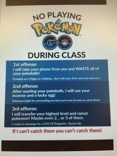 Do Not Play During Class