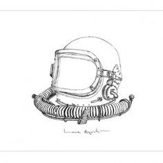 COSMONAUTA. Original work of #lauraagusti. #Stylograph on #paper. Elementos Serie. 250€ #ilustration #ilustracion #dibujo #drawing #Artwork #Barcelona
