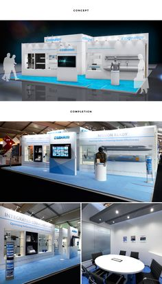 RTH ensured Cobham's large product range was successfully showcased at the air show. Two large feature walls housed product and also offered privacy to the meeting areas behind.
