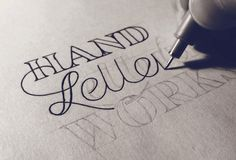 Hand Drawn typography by Sean McCabe