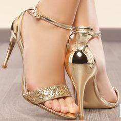 Sandales femme Doré taille 38, achat en ligne Sandales femme sur MODATOI