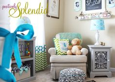Positively Splendid {Crafts, Sewing, Recipes and Home Decor}: Baby Boy Nursery Tour