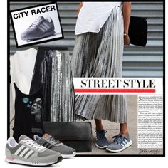 We love this easy glam look from jahkun on Polyvore. Get the look with the adidas NEO City Racer Sneaker!