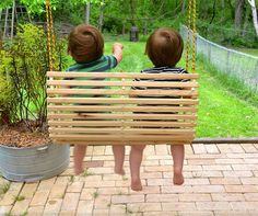 Rope tree swing for two / toddlers / children / by Quarrydesigns, $48.00