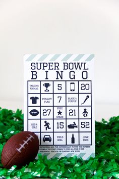 Fun activity for Super Bowl Party (site also has ideas for other football themed foods and activities that would be fun for kids)