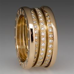 Bulgari B.zero1 Diamond Ring 18K Yellow Gold
