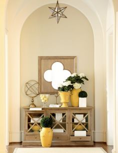 Yellow entryway