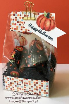 Treat Bags with Gusseted Cellophane Bags | Stamping With Tracy