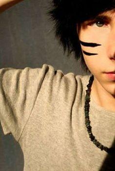 emo boy andys makeup