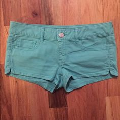 Aqua American Eagle Shorts NWOT! Super cute! Just don't fit me! American Eagle Outfitters Shorts Jean Shorts