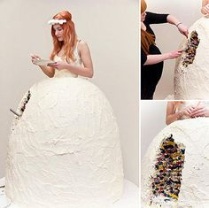 Du weißt, dass du auf einer merkwürdigen Hochzeit bist, wenn die Braut die Hochzeitstorte ist und dabei isst. Das ist einfach viel zu seltsam, findest du nicht auch? | unfassbar.es