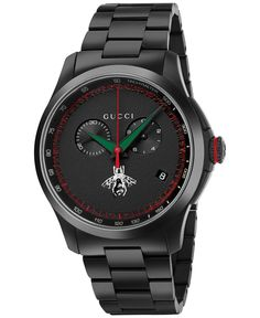 09f5adb36d7 Gucci Men s Swiss Chronograph G-Timeless Black Pvd Stainless Steel Bracelet  Watch 44mm YA126269 Gucci