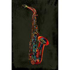 <li>Artist: Maxwell Dickson</li><li>Title: Saxophone</li><li>Product type: Gallery-wrapped giclee canvas art</li>