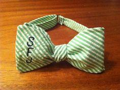 Copious: Monogrammed Bow Tie -Seersucker or Gingham