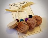 Recycled Cork Wine Charms
