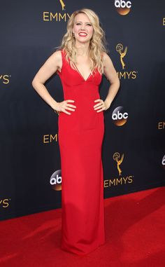 Kate McKinnon in Alexander Wang at the 2016 Emmys Red Carpet