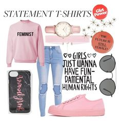 """International Womens Day"" by short-stuff25 ❤ liked on Polyvore featuring Novesta, Skinnydip, Topshop, Global Views and Ray-Ban"
