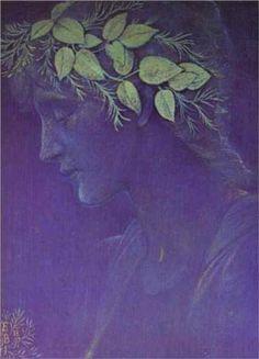 Girl's Head. 1897. Sir Edward Burne-Jones