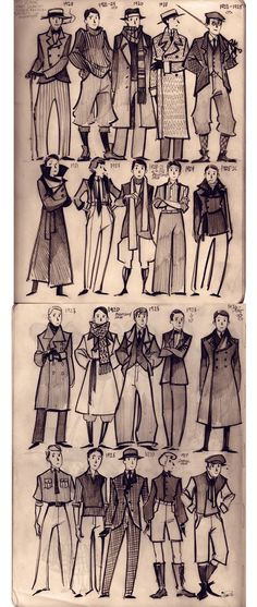 Prev Pinner: 1920's MEN'S FASHION - often characterized by suit jackets and high waisted pants (The Twenties, Thirties, and WWII)