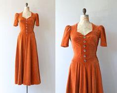 Wild Calla dress • vintage 1930s dress • velvet 30s dress