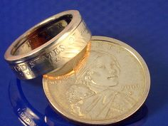 Coin ring- yes, a ring made from a coin.