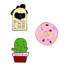 Pins en forme de donuts / Cactus