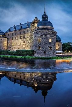 Medieval castle in Orebro, Sweden