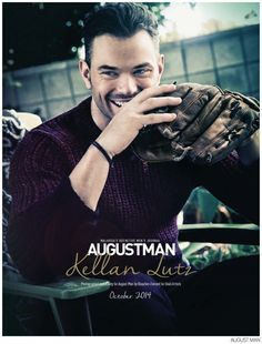Kellan Lutz Wears Burberry for August Man, October 2014