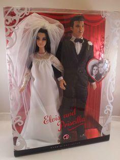 2008 ELVIS & PRISCILLA PRESLEY Barbie Doll Gift Set Collector Edition! NEW! #Mattel2008BarbieDollGiftset