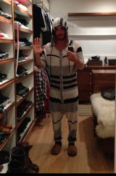 @Shannon Bellanca Leto: Yes I'm still sick, yes I'm wearing a onesy and yes this is part of my closet…welcome
