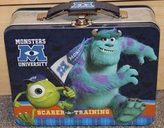 MONSTERS INC. Disney/Pixar Tin Lunch Box - New - School -carrying case - Boys