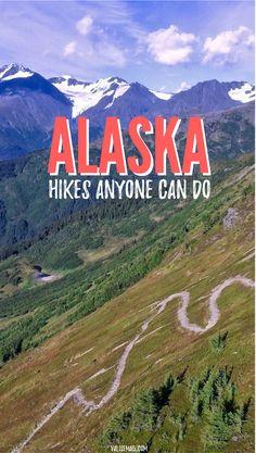 Hiking in Alaska. Alaska Hikes Anyone Can Do. Easy, Moderate, and Challenging Hikes throughout Alaska. | Alaska Travel | Hiking | Adventure Travel via @valerievalise/