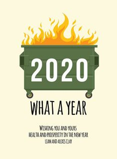 Dumpster Fire New Year Cards