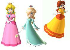 Princess peach daisy rosalina what