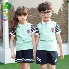 New Arrival Children Summer School Uniform Girl Kindergarten Group Student Clothes Kids Student Uniform Sets 18 Sports Uniforms, School Uniforms, School Uniform Fashion, India School, Kids Sports, Work Wear, Boy Or Girl, Kindergarten, Preschool