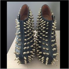 Spiked Jeffrey Campbell heels Edgy spiked heel less heels that will turn heads . Super comfy , easy to walk in with all spikes in tack.  Brand new Needs to go ASAP Jeffrey Campbell Shoes Heels
