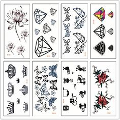Mihqy 8 sheets Cute Design Temporary Tattoo >>> Find out more about the great product at the image link. (This is an affiliate link) #TemporaryTattoos