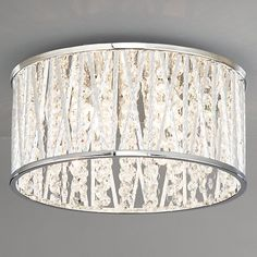 John Lewis Emilia Crystal Drum Flush Ceiling Light