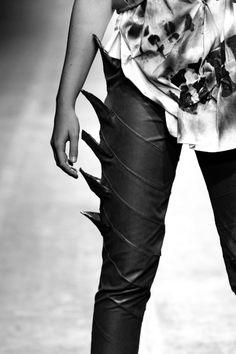 Spike Leggings, Fashion, Women's Fashion, Black on Black, Spiked Black, h-a-l-e.com                                                                                                                                                     More