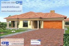 RDM5 House Plan No W1711 Best House Plans, House Floor Plans, Beautiful House Plans, Beautiful Homes, 1 Bedroom House Plans, Single Storey House Plans, House Plans South Africa, Site Plans, Good House