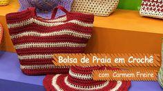 Bolsa de Praia em Crochê - Carmem Freire | Vitrine do Artesanato na TV -...