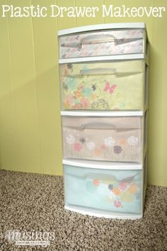 I can't tell you how many not-so-pretty plastic storage drawers I own for storing my craft supplies. The problem is myplastic storage drawers still look like a disorganized mess e…