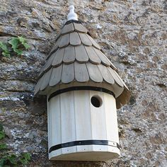 Dovecote Nest box - Traditional English Wall Mounted Birdhouse for Wild Garden Birds - Wildlife and Insect Habitats and Houses - Aviaries, Birdhouses & Tables, Dovecotes, Pet Hutches & Wildlife Houses Garden Bird Feeders, Wild Bird Feeders, Hanging Bird Feeders, Garden Birds, Bird Tables, Spool Tables, Hedgehog House, 3d Cnc, Bird Boxes