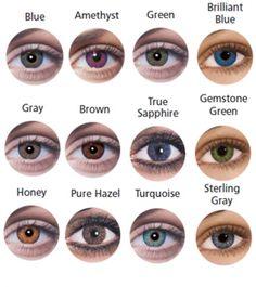 Ciba Vision colored contact lenses