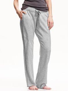 Womens bootcut terry fleece lounge pants