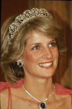 Princess diana formerly lady diana spencer wearing the spencer tiara