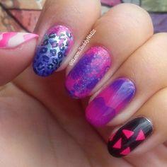 Purple & Pink Nails
