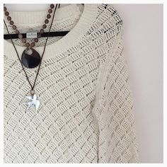 Cream Open Knit Sweater Preloved and in good condition!  Super cute! Sweaters